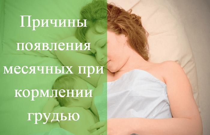 менструация при кормлении грудью