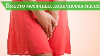 коричневые выделения перед месячными за неделю беременность